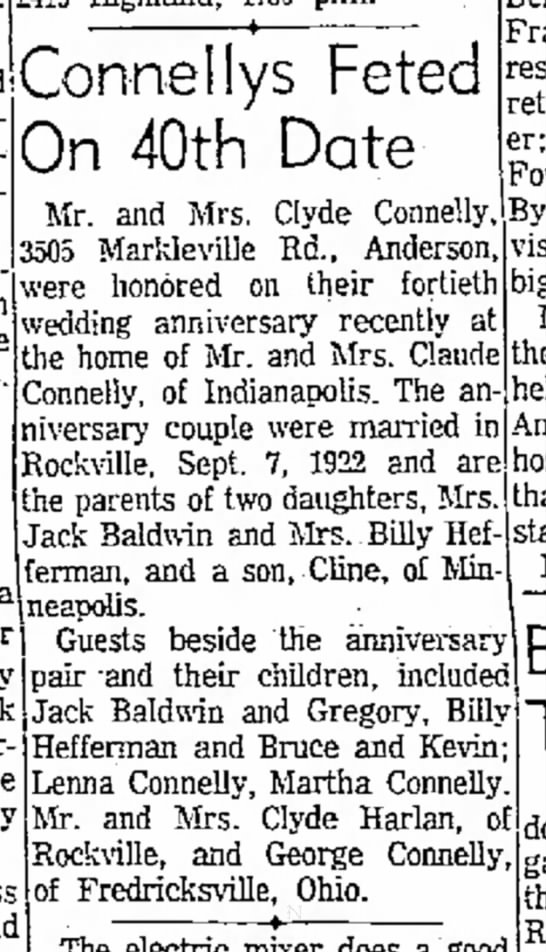 Clyde & Cletis Connelly anniversary -