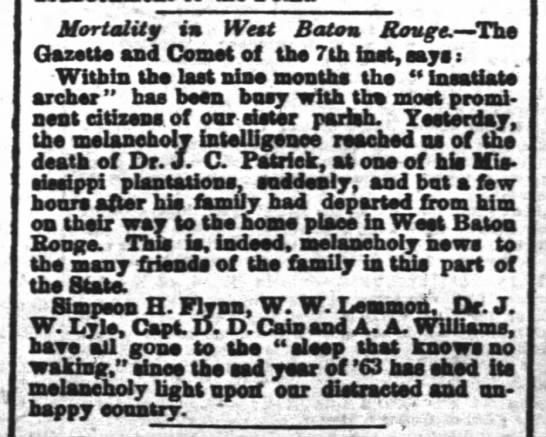 AA Williams died  - Mortality in Wtt Baton Rouge. -Ths Gazette and...