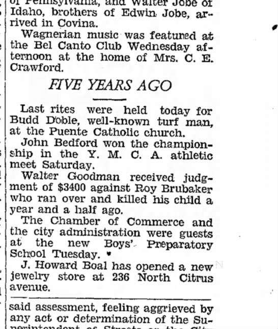 COVINA ARGUS- Covina CA