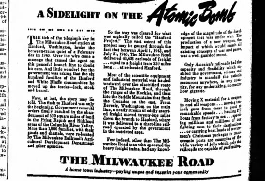 The Williamsburg Journal-Tribune  Dec. 13, 1945 - carried pillow of the a in at to A SIDELIGHT ON...