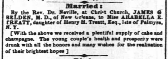 March 4, 1851 Edition of the Times-Picayune (New Orleans. Louisiana, page 2 - Blarrled t By ths Rev. Dr. ELDKN, M. D.. of New...