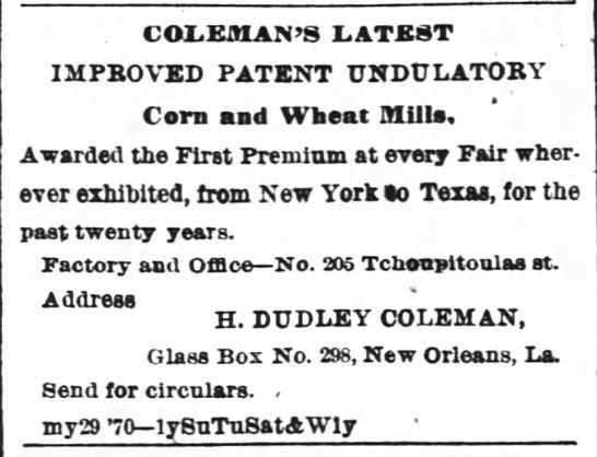 Coleman's Latest -