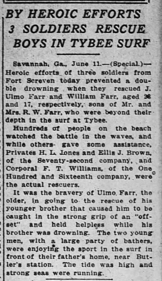 1914-06-12 FARR J ULMO, WILLIAM, R W - SAVED FROM DROWNING -