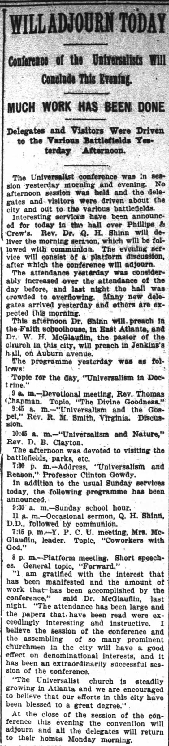 1896.10.25 Universalist Conference Concludes -