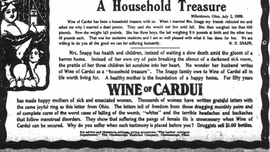 W H Snapp wine of Cardui ?? -