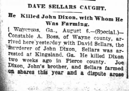 Atlanta Constitution;  07 Aug 1895;  pg3 -