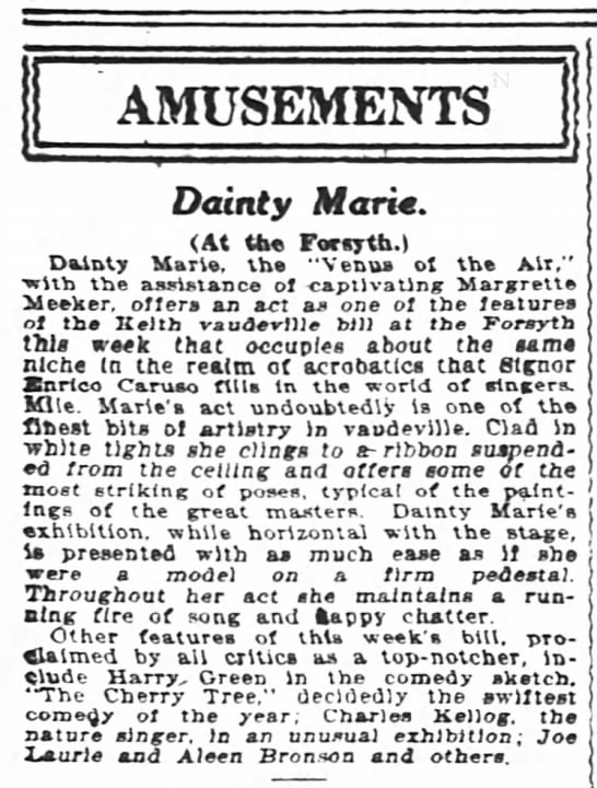 Dainty Marie 1916 and sister -