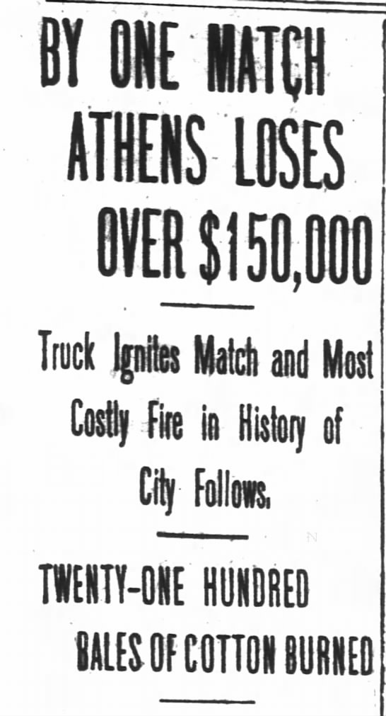 Most Costly Fire in History of Athens, Georgia -