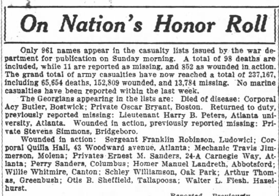 Schley Williamson wounded -