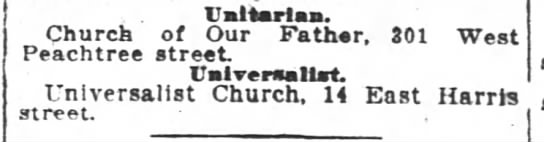 1917.09.09 Unitarian and Universalist in separate churches -
