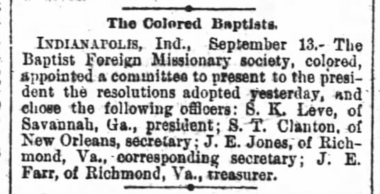 1889-09-14 FARR J E - The Colored Baptists. LxDiANAroLfs Ind....