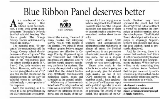 2005.3.8 Orange Co-Blue R, panelists reflections on panel's work -