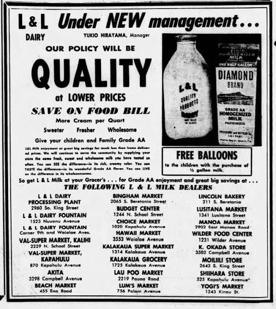 L&L Dairy 1958 Hirayama mgmt -