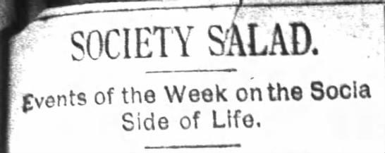 Society Salad column in The Atlanta Constitution -