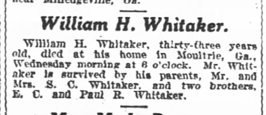 1919-10-02 WHITAKER, WILLIAM H - DIED -