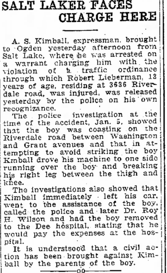 Robert Lieberman Injured in auto accident
