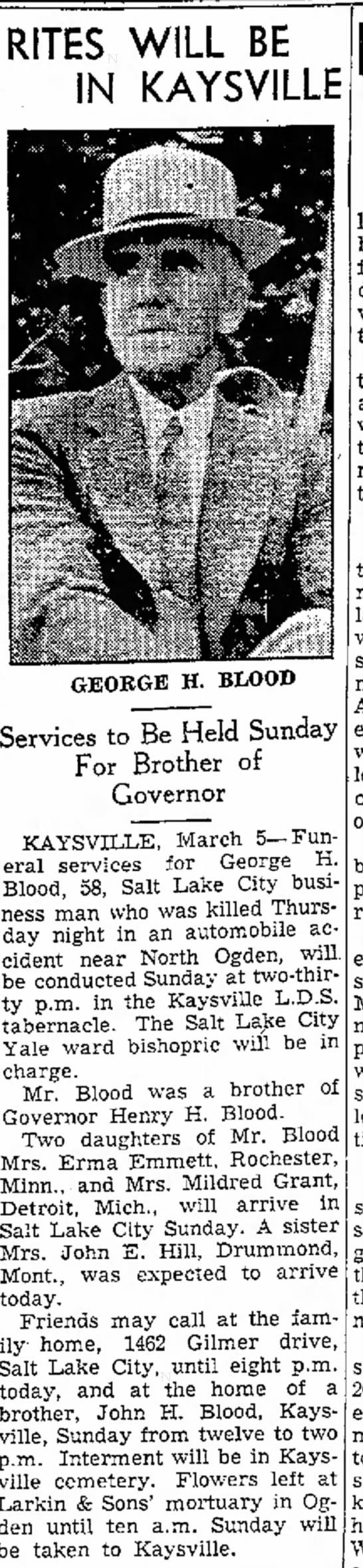 george blood obit -