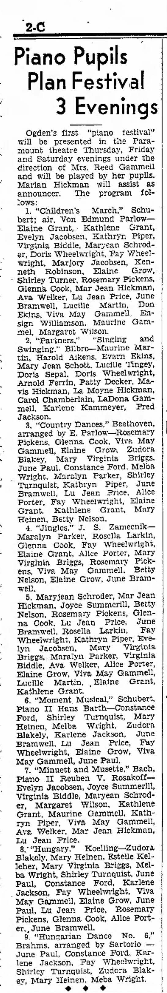 mary jean Piano Recital May 10, 1936 -