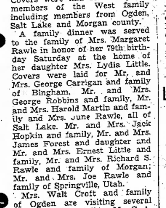 1937 Margaret Simmons Rawle Birthday dinner -