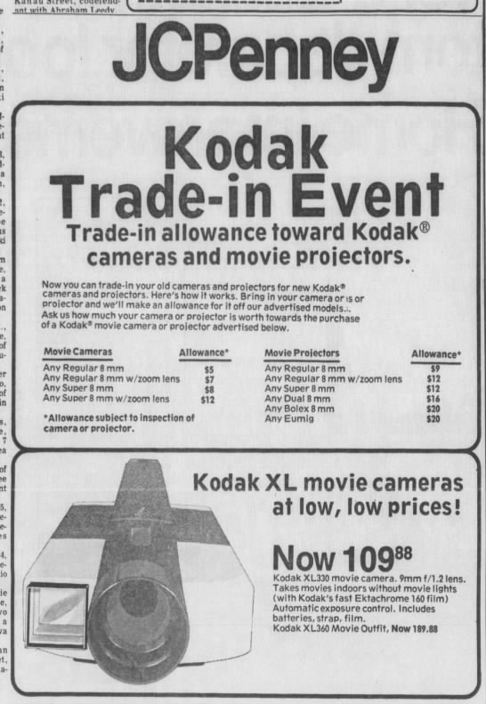 kodak xl360 movie camera -