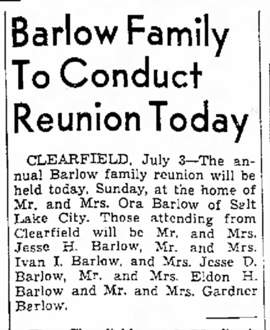 Barlow Family Reunion -