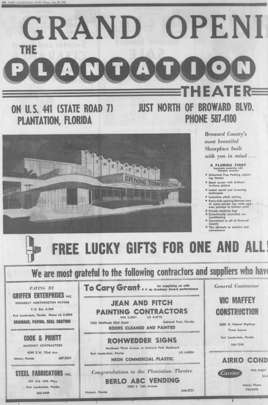 Plantation theater opening 1 -