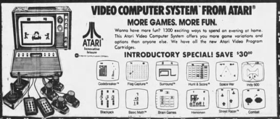 Atari 2600: Flag Capture and more (Oct 12, 78) -