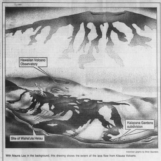 1990 Kilauea eruption -