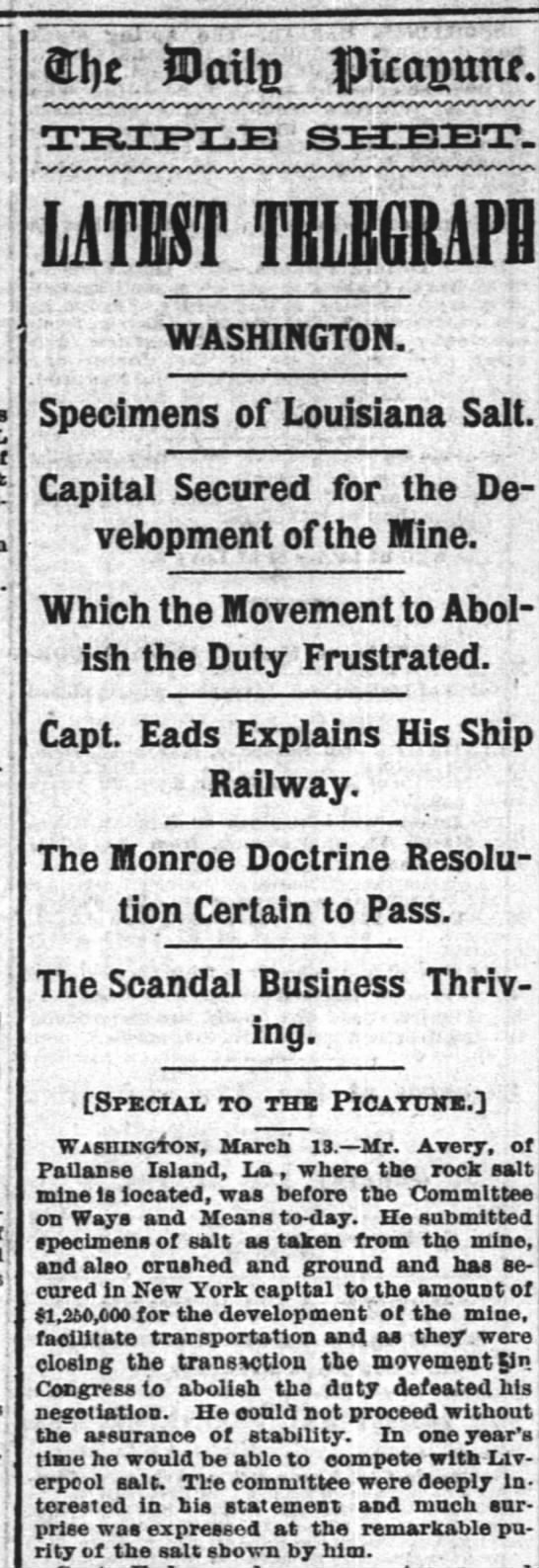 The Times-Picayune (New Orleans) March 14, 1880 -