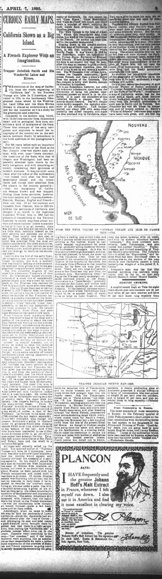 SF Chronicle 1895Curious Early Maps -
