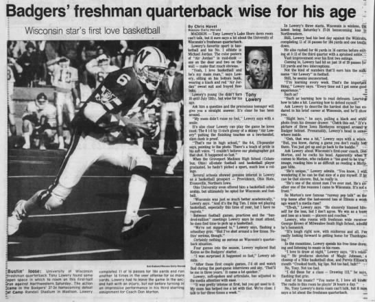 Badgers' freshman quarterback wise for his age -