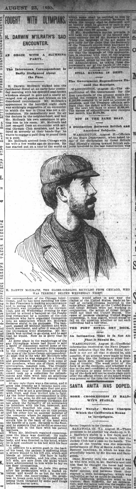 McIlrath, SF Chron, 23 Aug 1895, p. 5, col 5-6 -