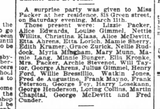 Archie Stevenot attends a surprise party. -