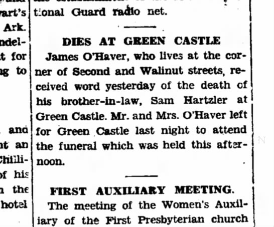 Brother in law dies 11/5/1929 -