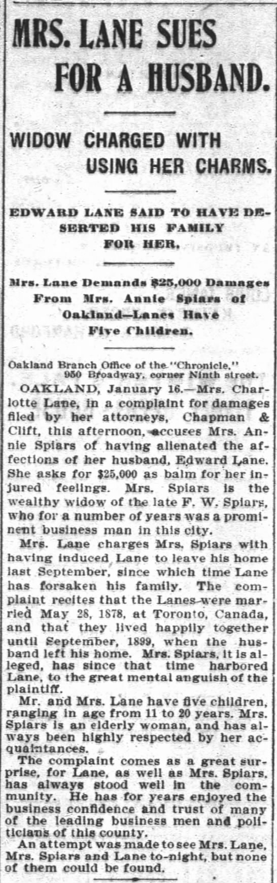 17 January 1900 Suit with Charlotte and Edward -