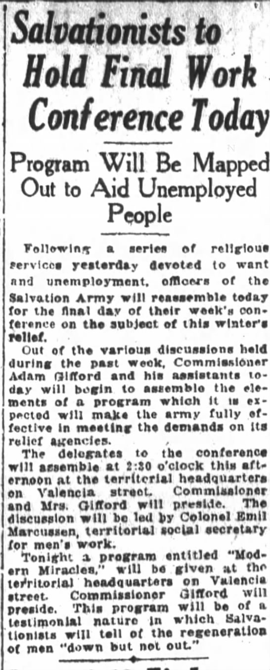 Salvation Army conference 10/10/21 SF Chronicle -