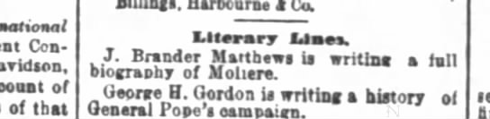 Early start to late book; S F Chronicle, 6/8/1879 -