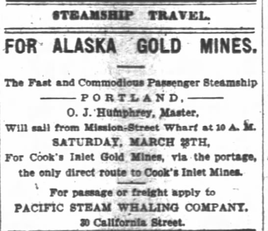 OJHsr ad for transport to AK, AK gold rush 24Mar1896 -
