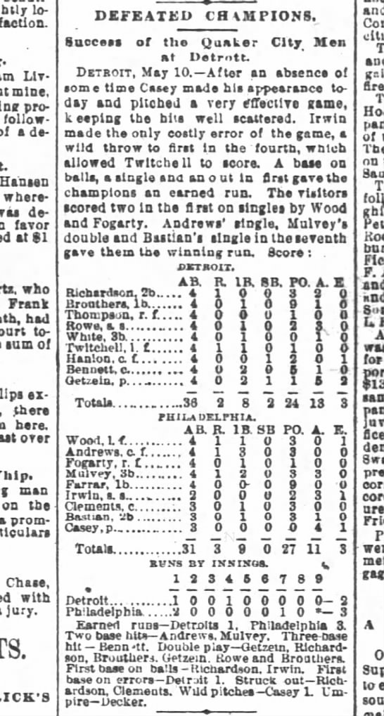 Casey in SF Chronicle 11 May 1888 -