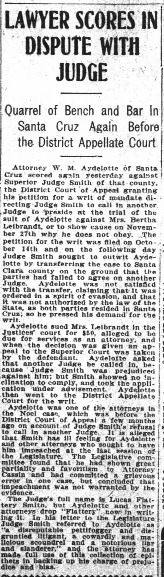 Lawyer Scores Nov. 10 1905