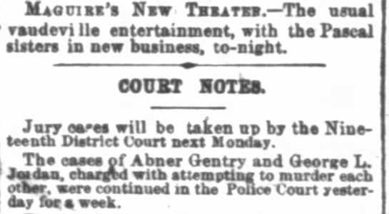 San Francisco Chronicle Aug 19, 1876 -