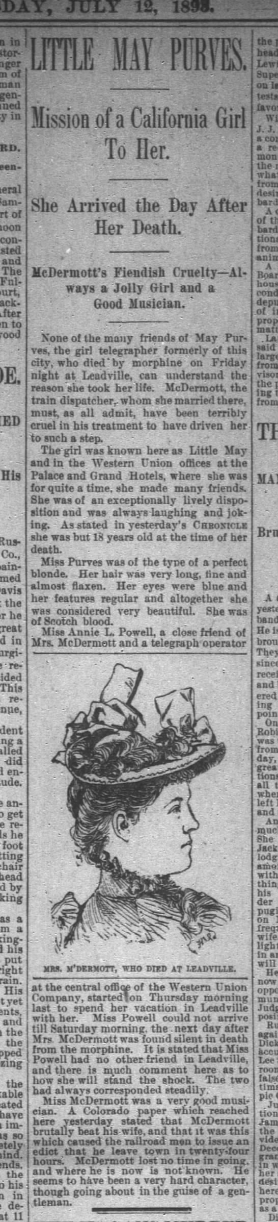 May Purves suicide paper 12 July 1893 -