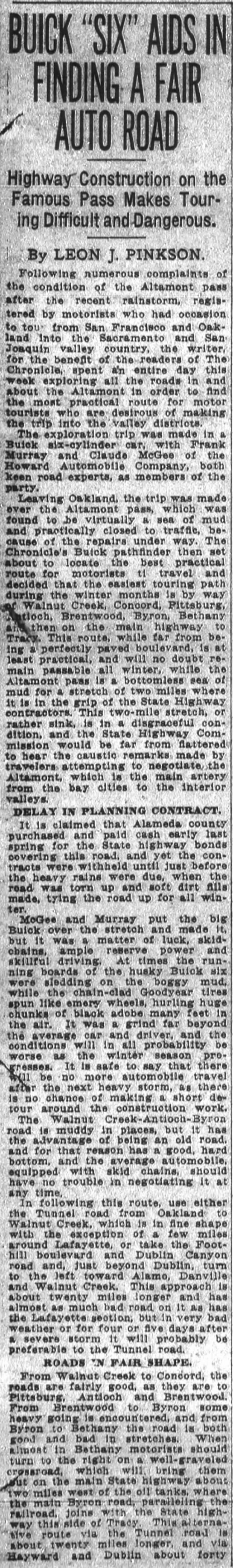 Assessment of roads to Modesto and Sacramento 1914 - J rlllullmflrAlK - vs v - r Highway...