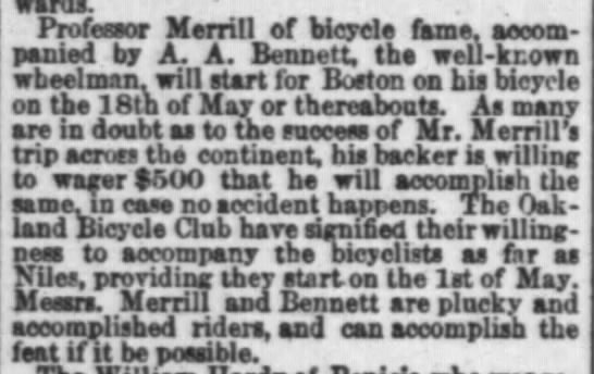 Merrill and Bennett, SF Chron, 26 March, 1881, p. 4 -