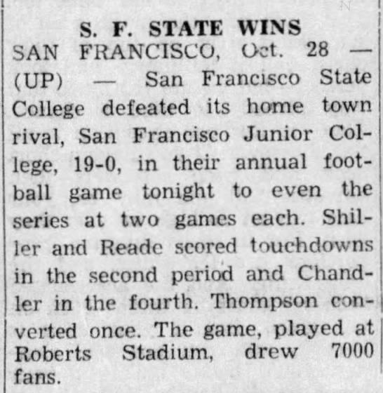 SF State Wins -