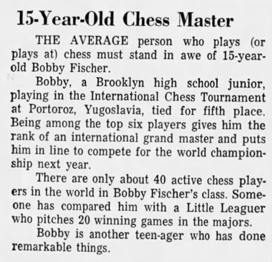 15-Year-Old Chess Master -