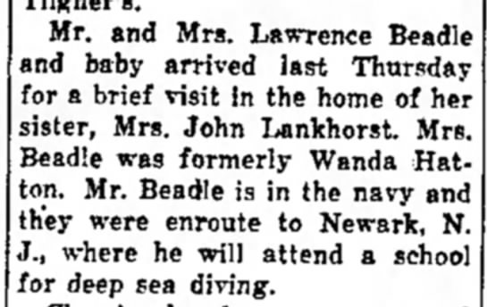 Wanda Hatton Beadle visits -