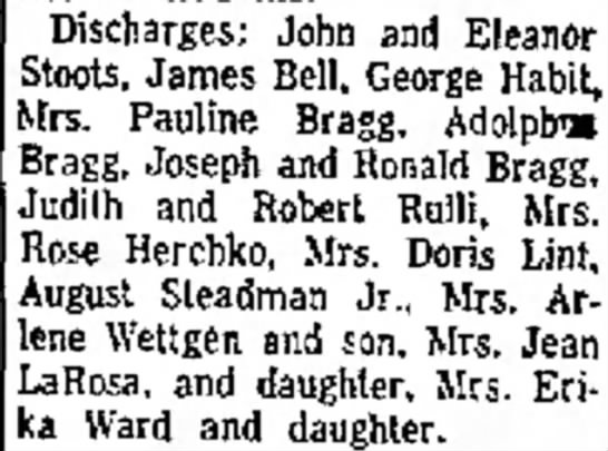 mrs arlene wettgen and son discharged from hospital page 17 the evening standard august 27 1958 -