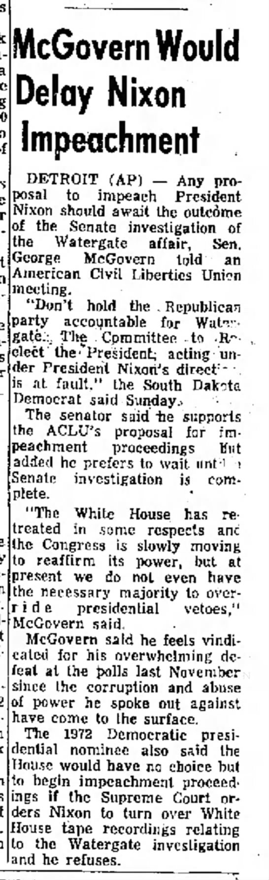McGovern before the ACLU -