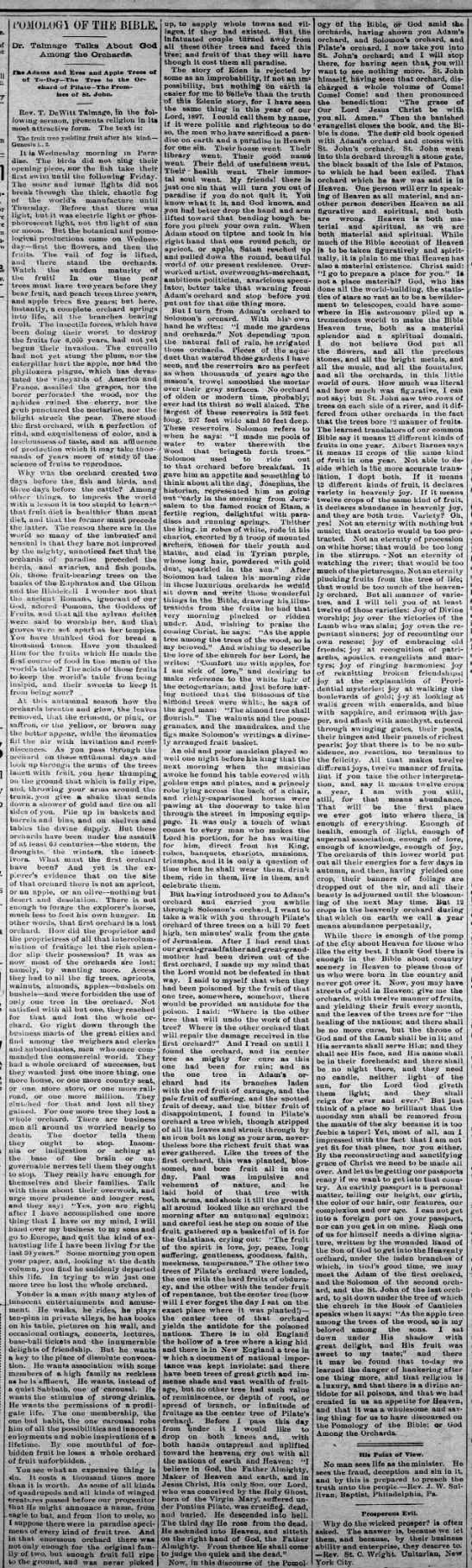Pomology of the Bible 1897 - Newspapers com